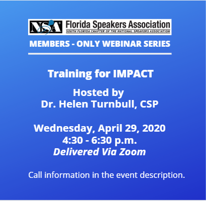 FSA Webinar Training for IMPACT