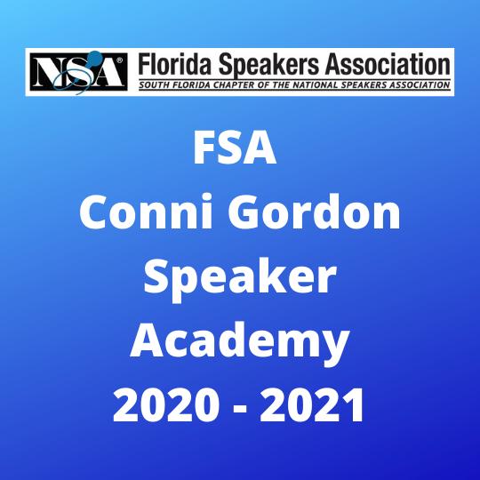 FSA Conni Gordon Speaker Academy